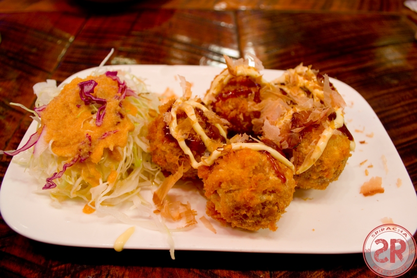 Takoyaki at Raku Tonkatsu & Ramen