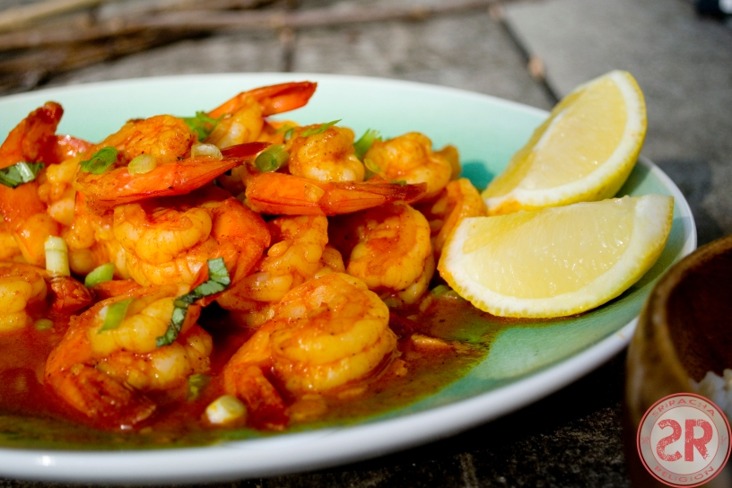 Garlic Butter Shrimp with Sriracha