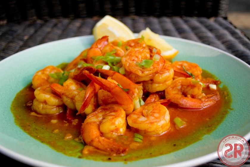 Garlic Butter Shrimp with Sriracha